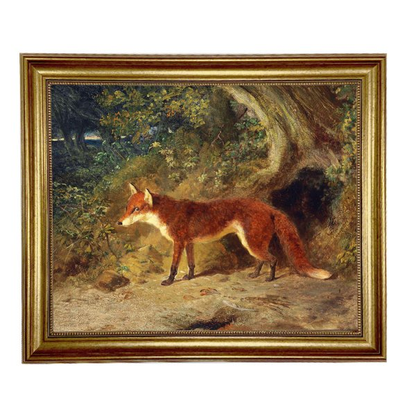 Painting Print Lg Frames Equestrian Fox and Feathers Framed Oil Painting Print on Canvas in Antiqued Gold Frame. A 16″ x 20″ framed to 19-1/2″ x 23-1/2″.