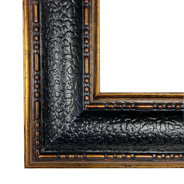Painting Print Lg Frames Equestrian Gentleman Standing Beside Saddled Hunter Framed Oil Painting Print on Canvas in Leather-Look Black and Antiqued Gold Frame. A 16×20″ framed to 21-1/2″ x 25-1/2″.