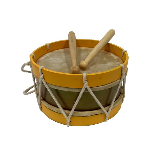 Games and Toys Revolutionary 7-1/2″ Civil-Revolutionary War Era Wooden –  Authentic –  Distressed-Looking Marching Snare Drum Antique Reproduction with Drum Sticks